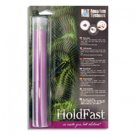 AQUARIUM SYSTEM HoldFast Stick Colle Epoxy Violette- Colle pour aquarium