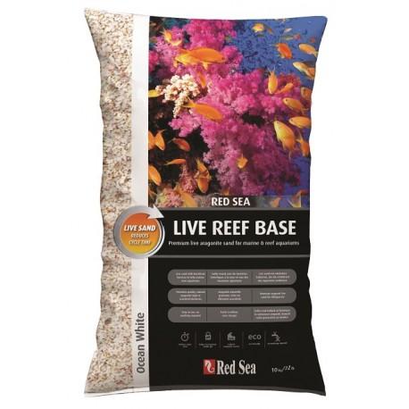 RED SEA Live Reef Base Blanc- Aragonite ensemencé en bactéries 10kg