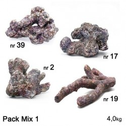 DUTCH REEF ROCK Pack Mix 1- 4 kg Roches artficielles
