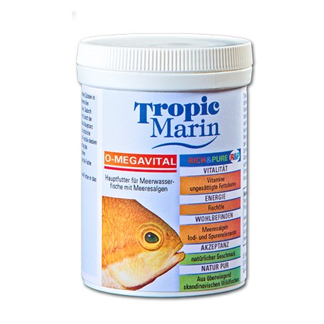TROPIC MARIN O-Megavital 500 gr- Nourriture pour poissons