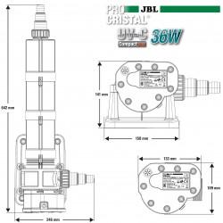 JBL ProCristal UV-C Compact Plus 36W- Stérilisateur pour aquarium de 1500 à 3000 L